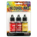 Tim Holtz® Ranger Adirondack Alcohol Ink Orange/Yellow Spectrum , 3 pkg
